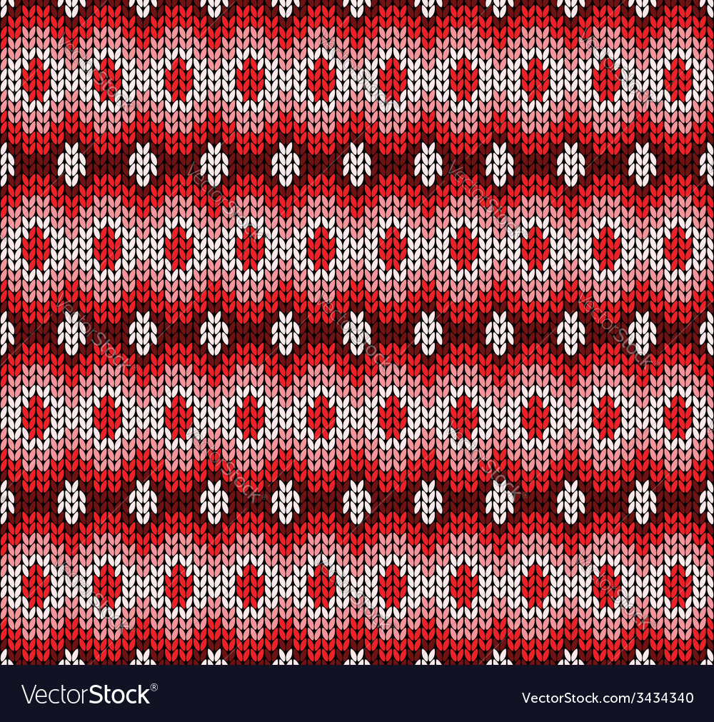 Red knitted pattern vector | Price: 1 Credit (USD $1)