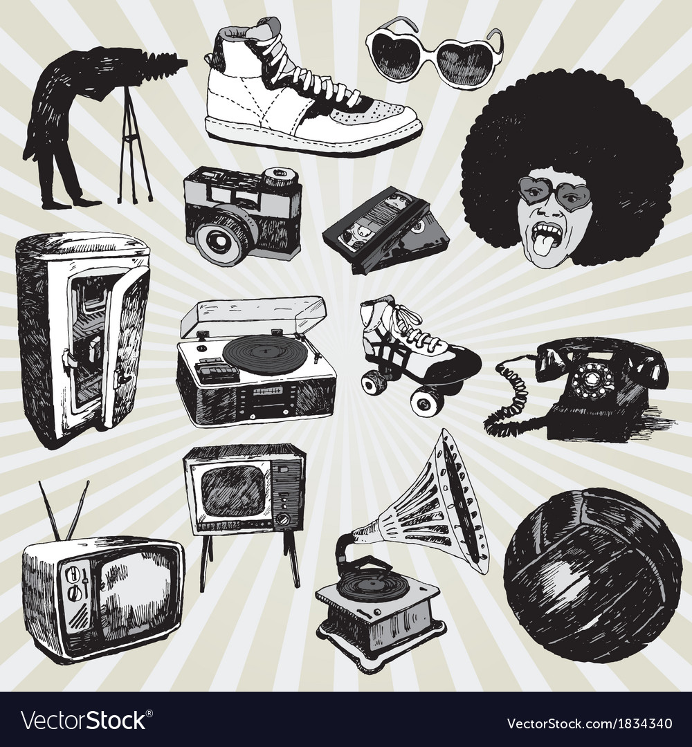 Retro black and white vector | Price: 1 Credit (USD $1)