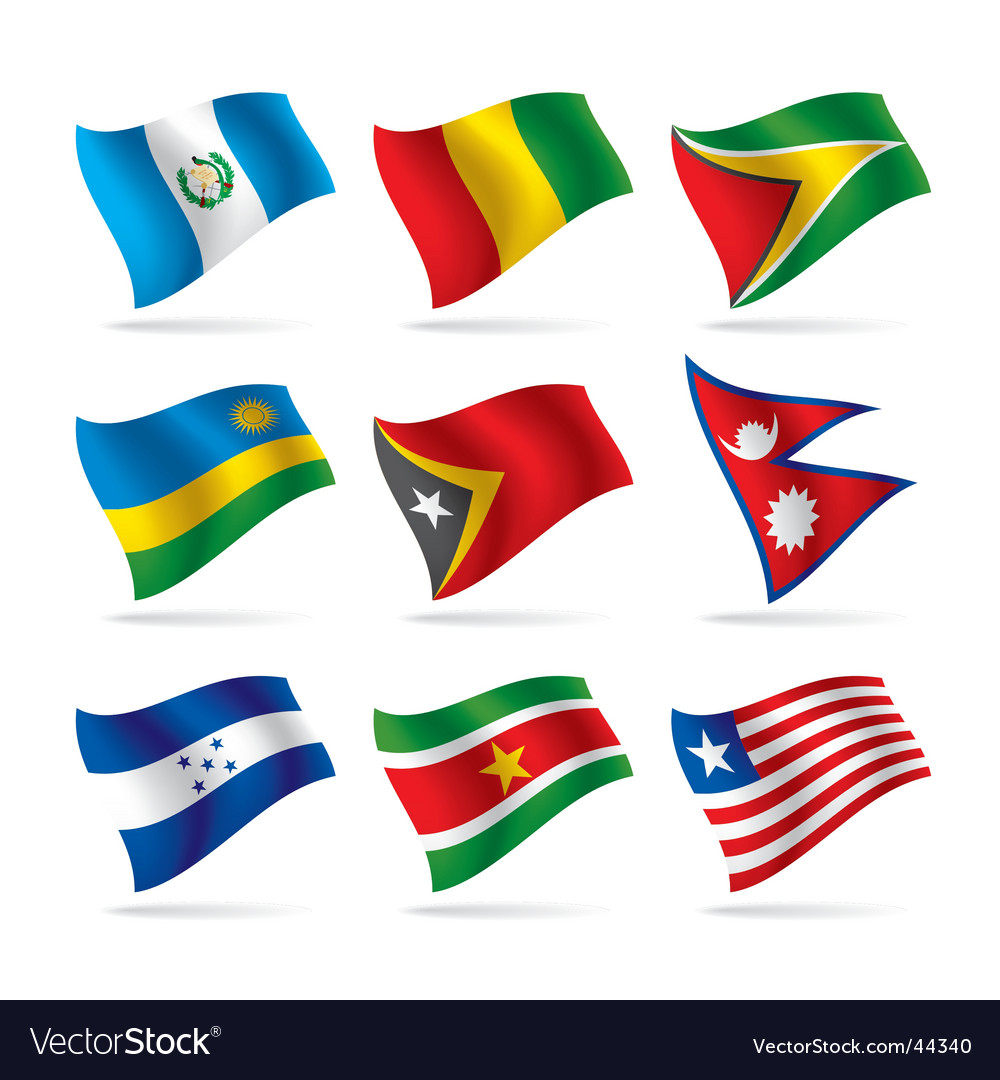 Set of world flags vector   Price: 1 Credit (USD $1)