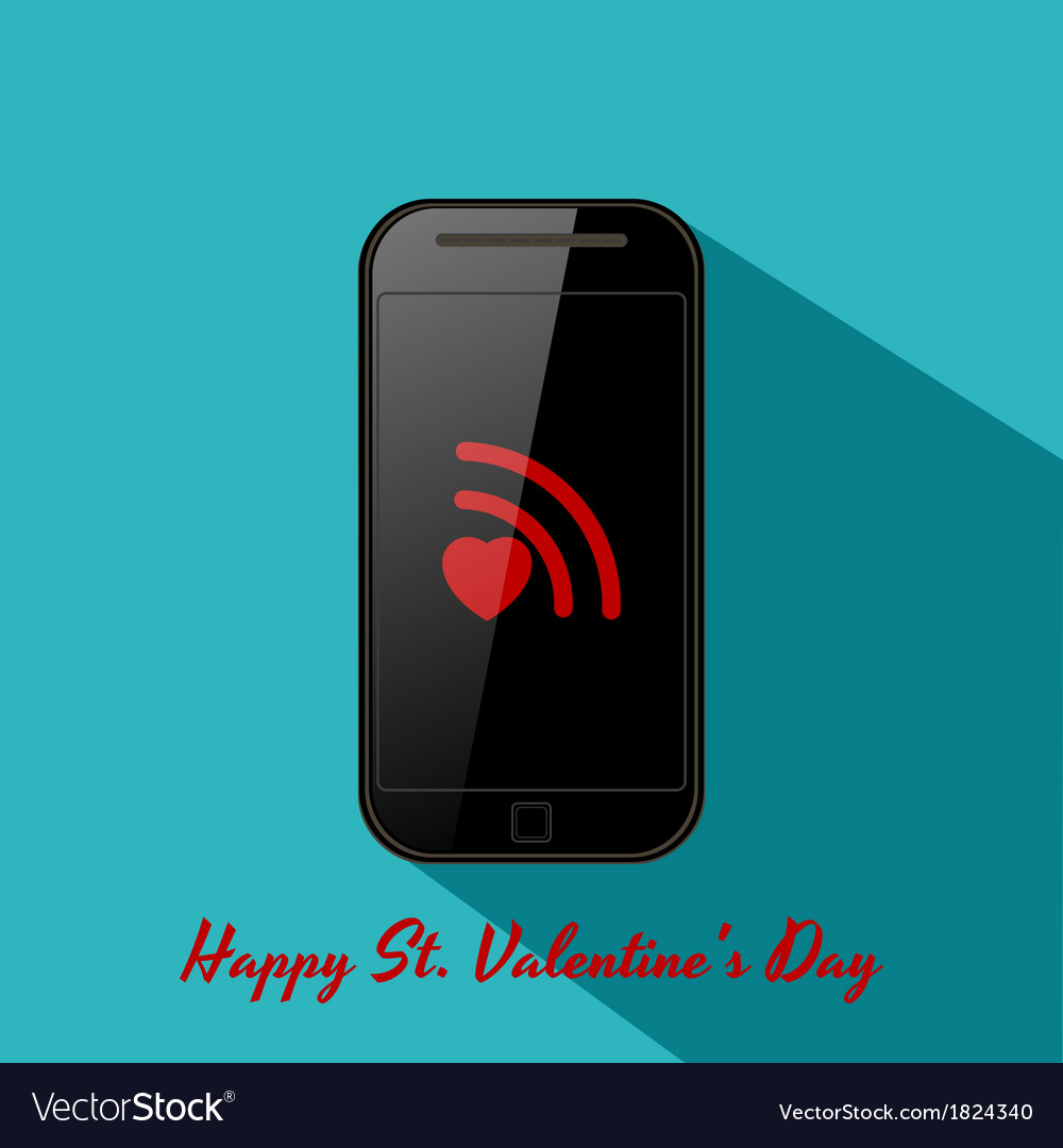 Valentines background in flat design style vector | Price: 1 Credit (USD $1)