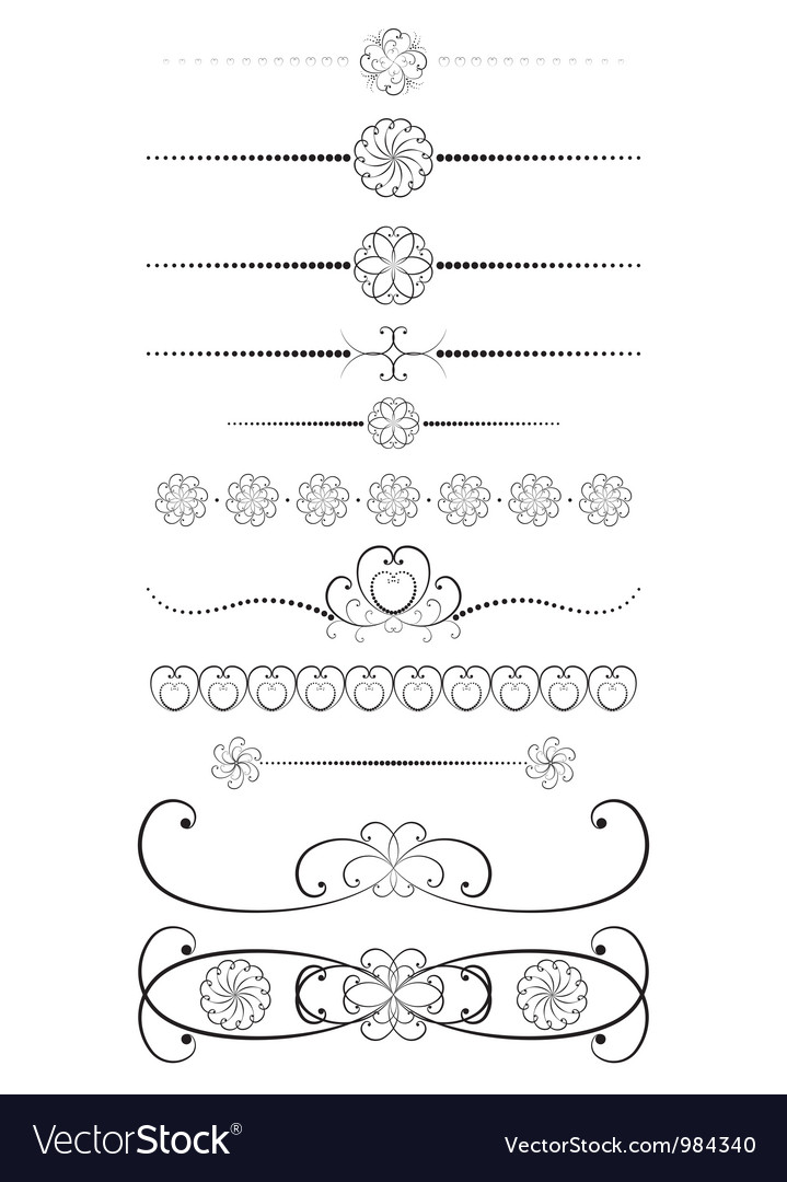 Vintage dividers vector | Price: 1 Credit (USD $1)