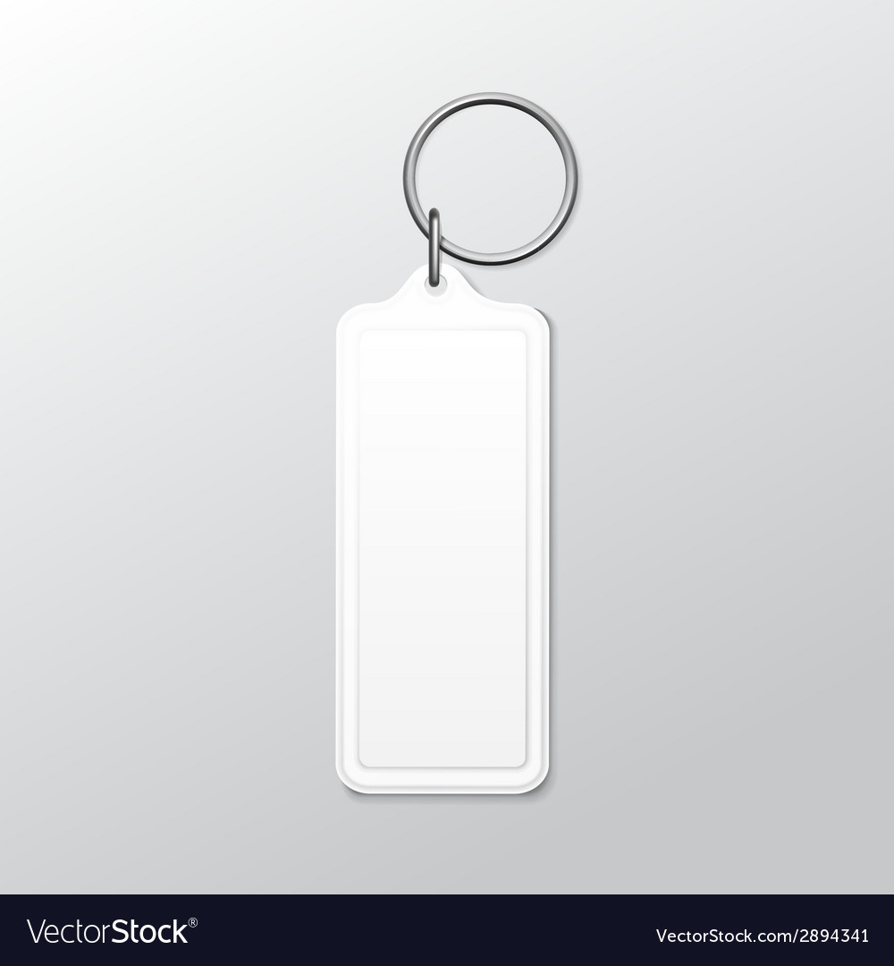 Blank square keychain with ring and chain for key vector | Price: 1 Credit (USD $1)