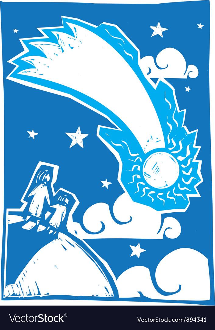 Blue comet vector   Price: 1 Credit (USD $1)