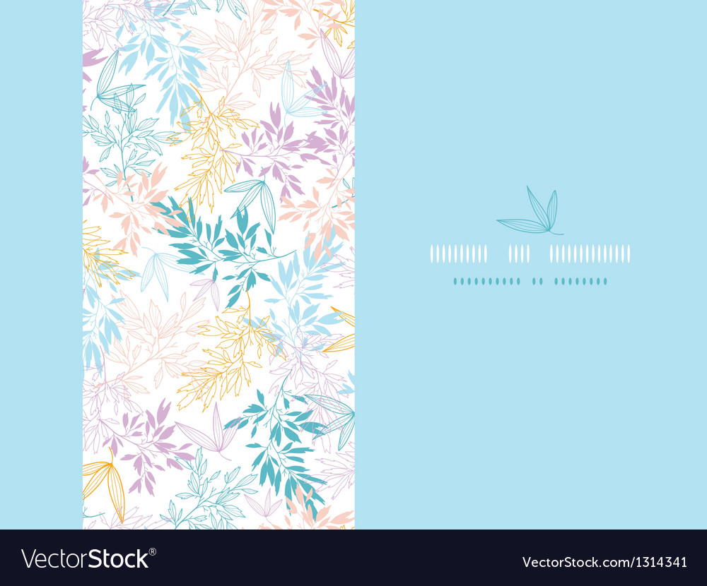 Colorful pastel branches horizontal card seamless vector | Price: 1 Credit (USD $1)