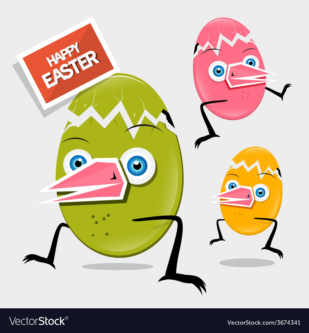 Easter funny eggs vector | Price: 1 Credit (USD $1)