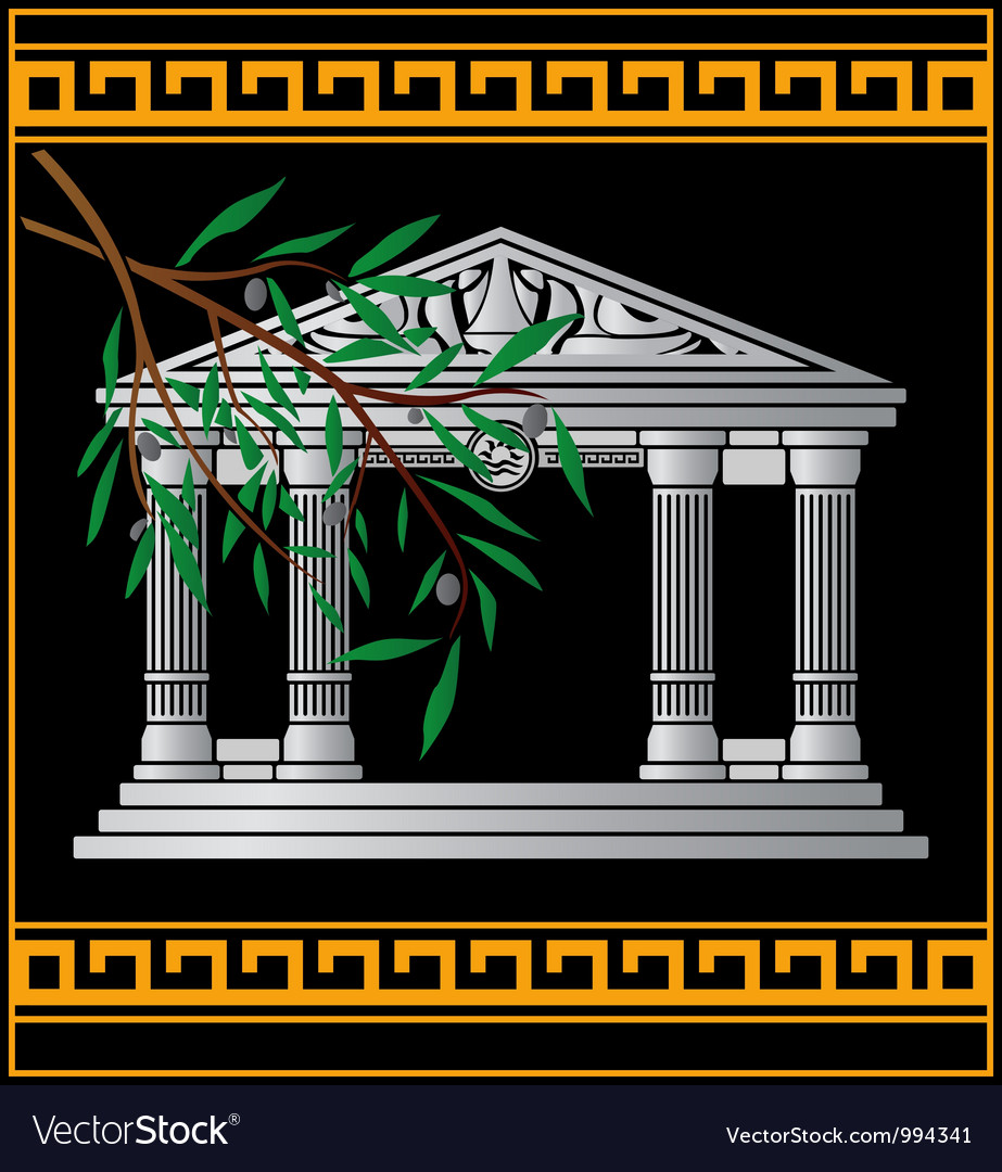 Fantasy hellenic temple vector | Price: 1 Credit (USD $1)