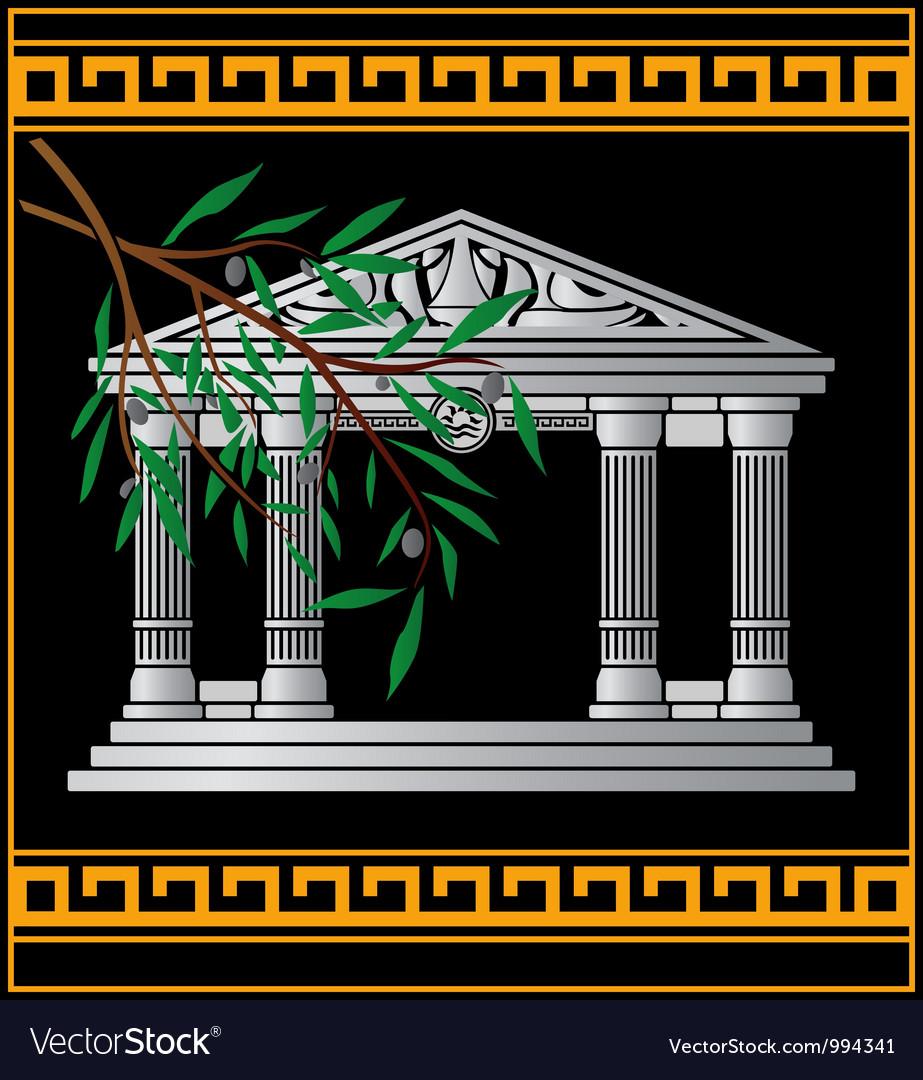 Fantasy hellenic temple vector   Price: 1 Credit (USD $1)