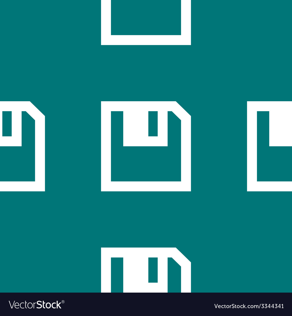 Floppy disk web icon flat design seamless pattern vector   Price: 1 Credit (USD $1)