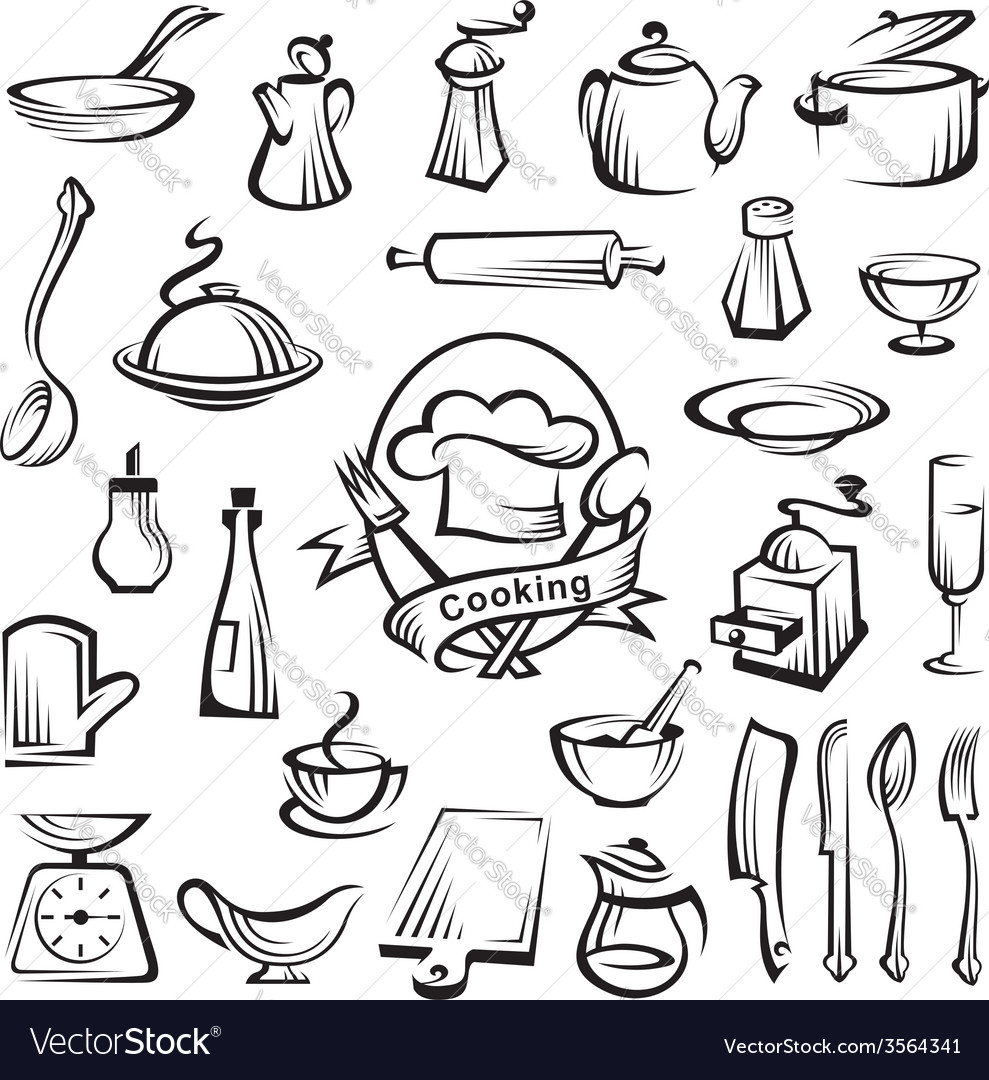 Kitchenware set vector | Price: 1 Credit (USD $1)