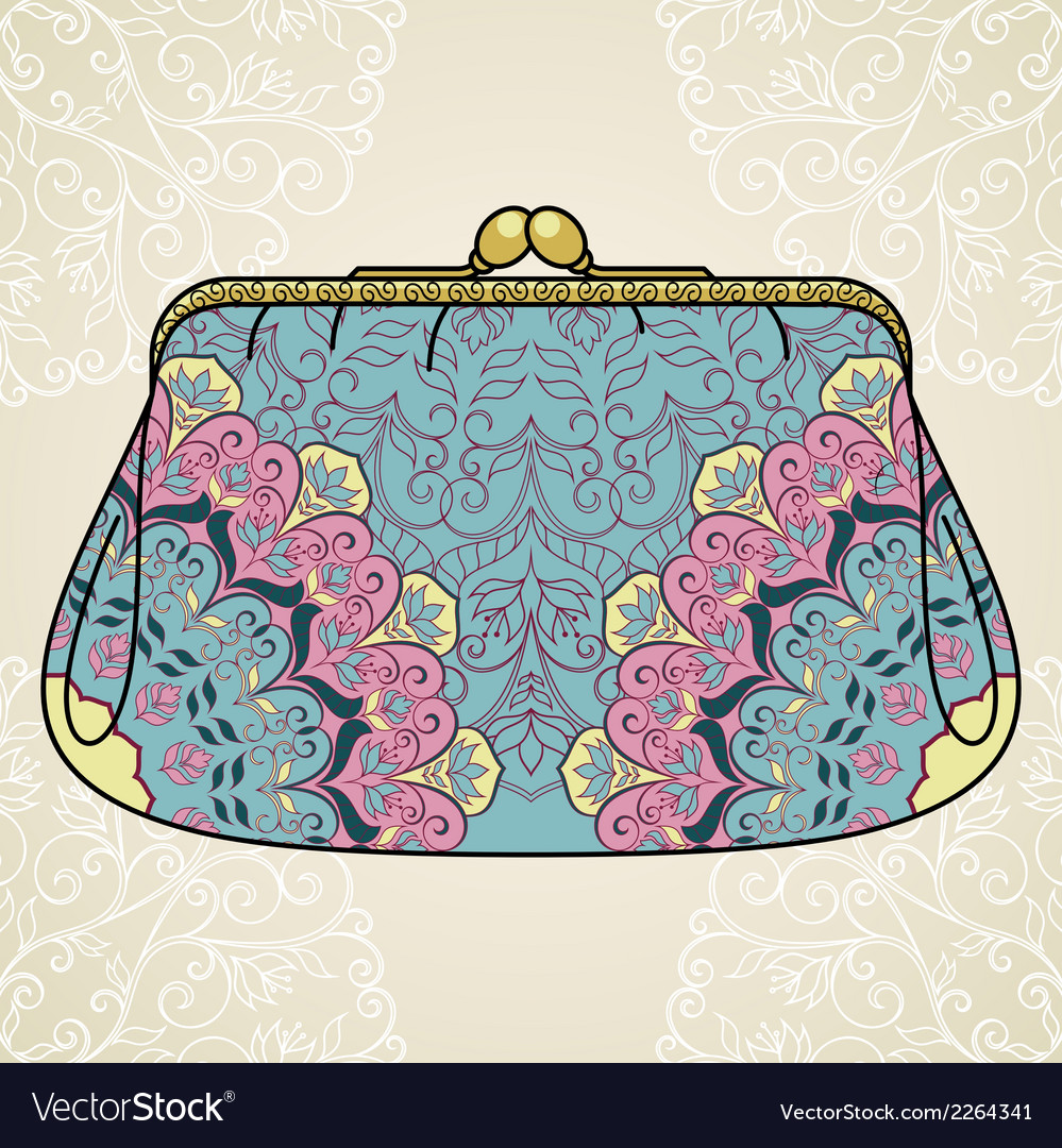 Lacy elegant purse vector | Price: 1 Credit (USD $1)
