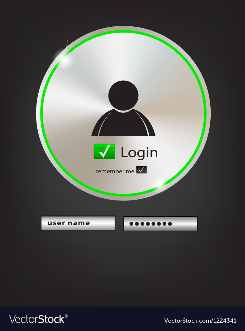 Login button 2 vector | Price: 1 Credit (USD $1)