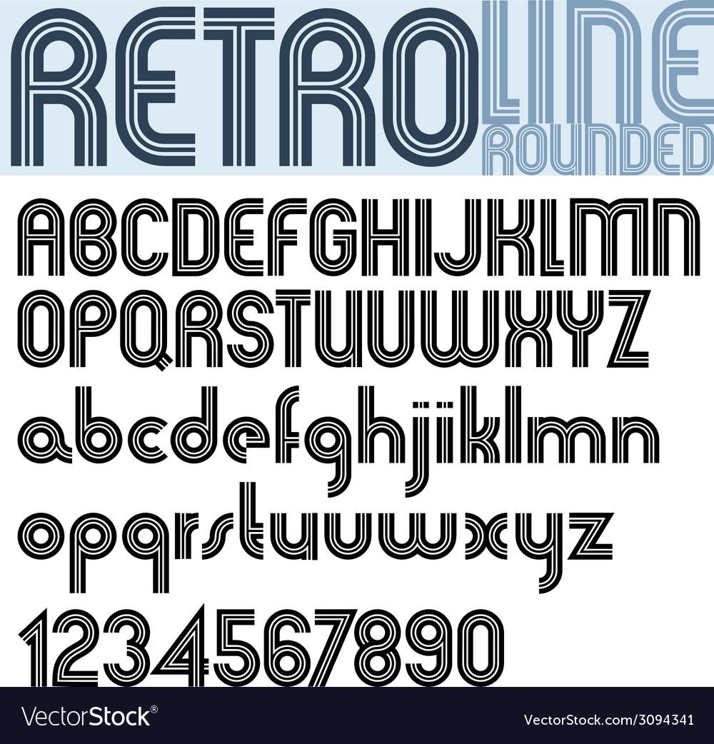 Retro line stylish font alphabet vector   Price: 1 Credit (USD $1)