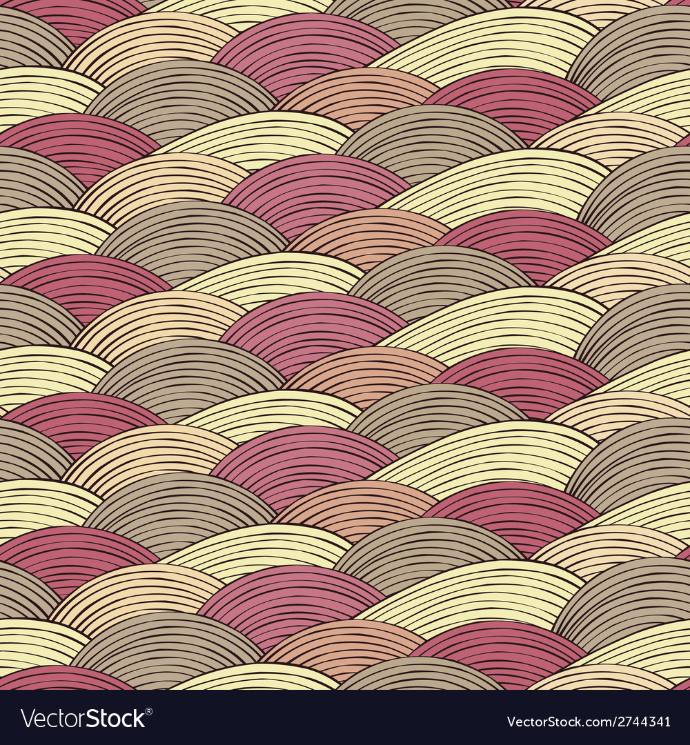 Seamless pattern with abstract decorative waves vector | Price: 1 Credit (USD $1)