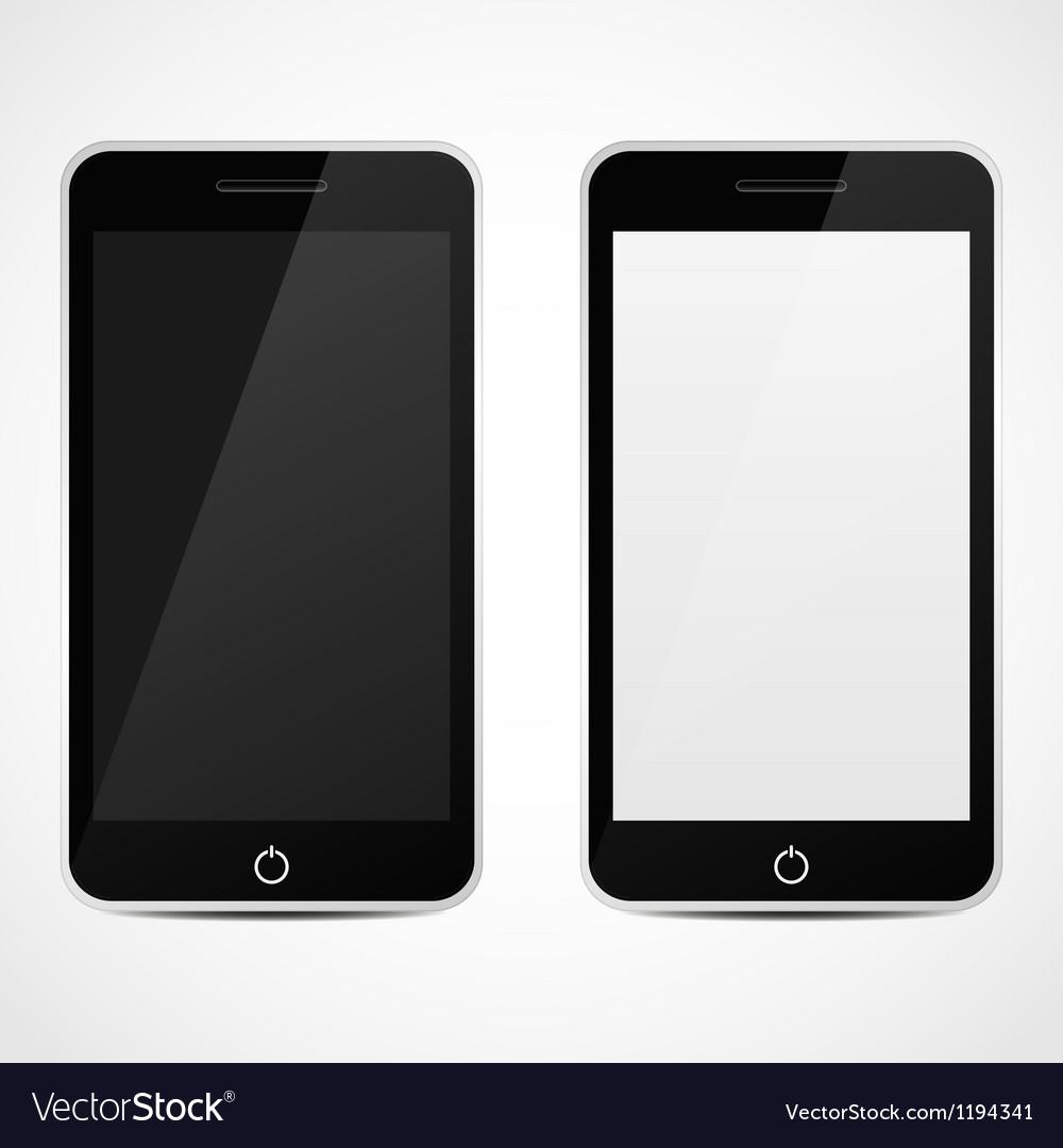 Smart phones vector | Price: 1 Credit (USD $1)