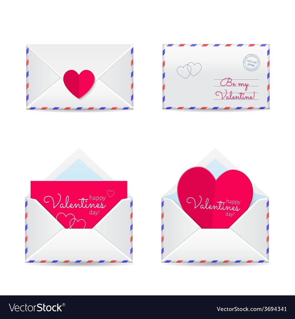 Valentines envelopes vector   Price: 1 Credit (USD $1)