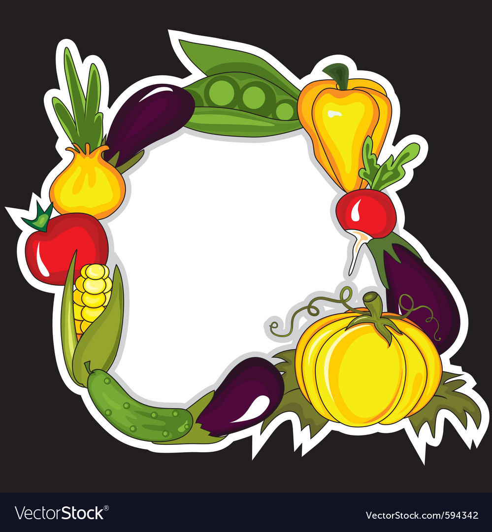 Abstract vegetables background vector | Price: 1 Credit (USD $1)