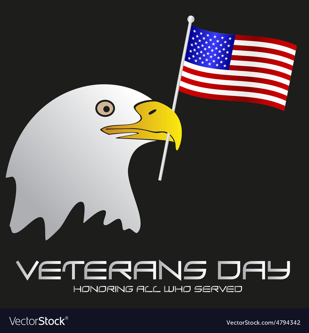 American veterans day celebration with head of vector   Price: 1 Credit (USD $1)