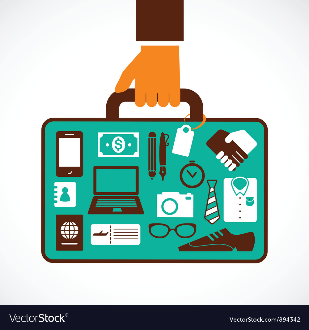 Business travel vector | Price: 3 Credit (USD $3)