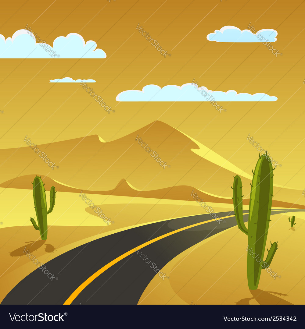 Desert road vector | Price: 3 Credit (USD $3)