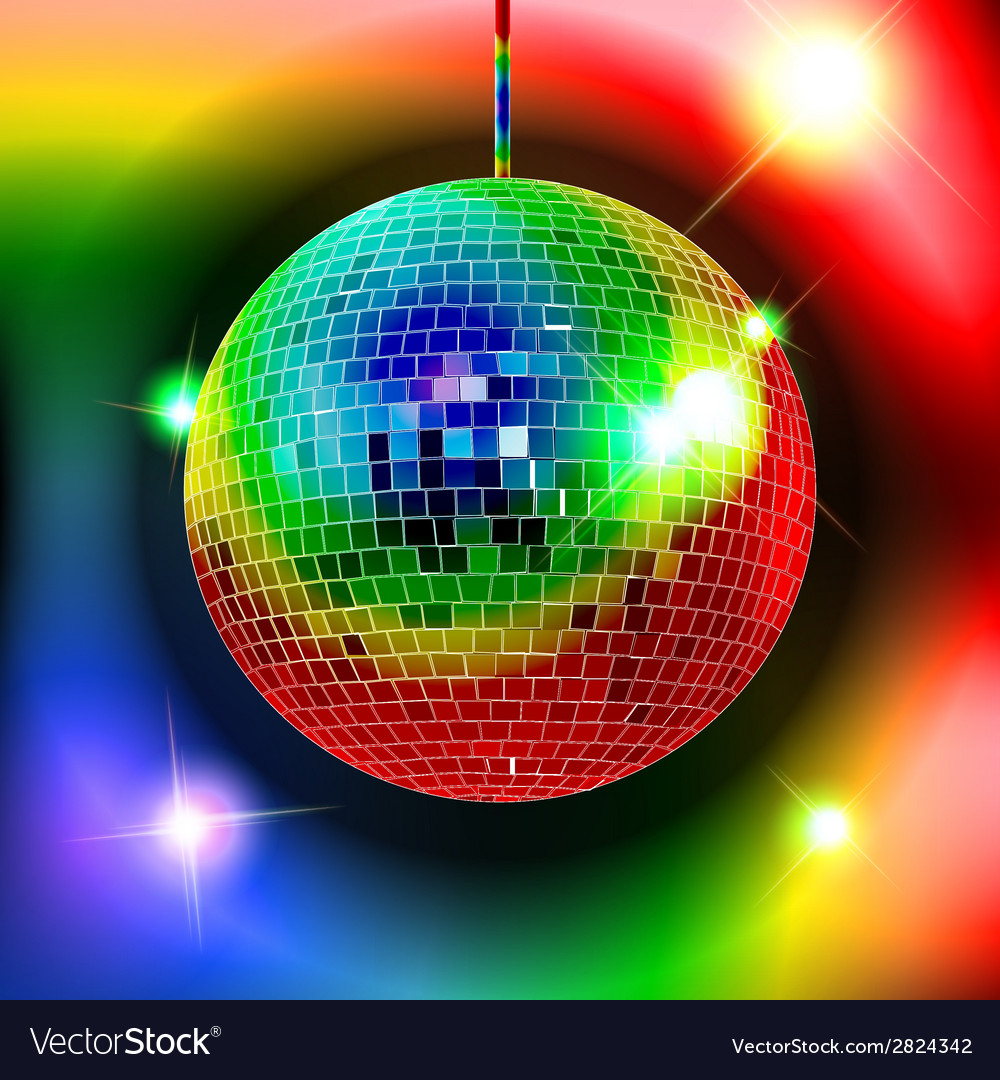 Mirror disco ball eps10 vector | Price: 1 Credit (USD $1)