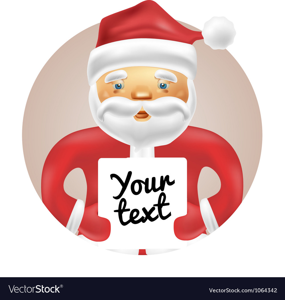 Santa with banner vector | Price: 3 Credit (USD $3)