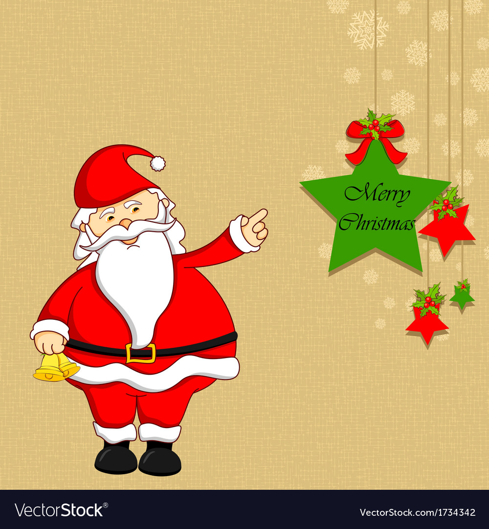 Santa with christmas decoration vector | Price: 1 Credit (USD $1)