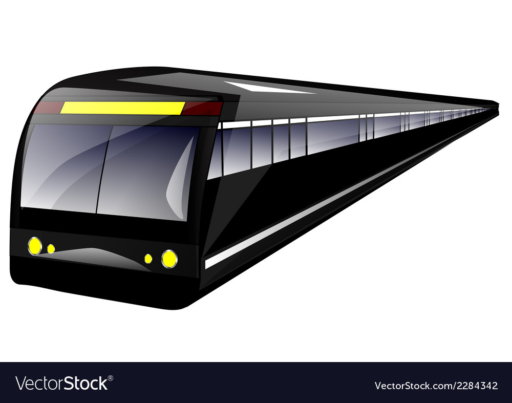 Subway train vector | Price: 1 Credit (USD $1)