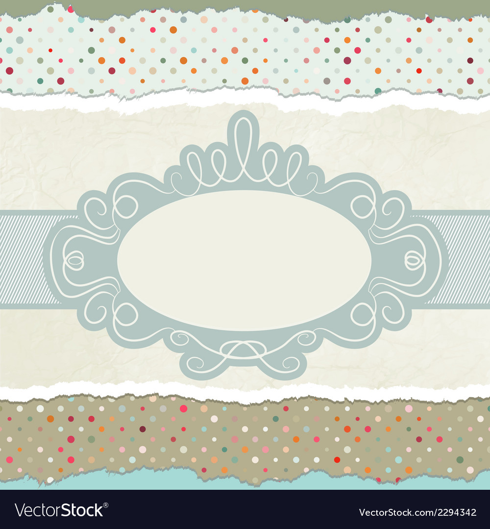 Vintage card template with copy space eps 8 vector | Price: 1 Credit (USD $1)