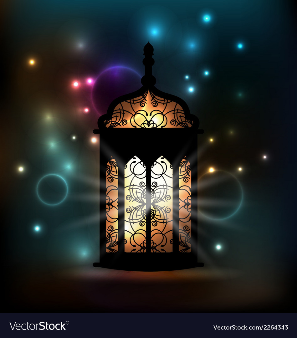 Arabic lantern with ornamental pattern for ramadan vector | Price: 1 Credit (USD $1)
