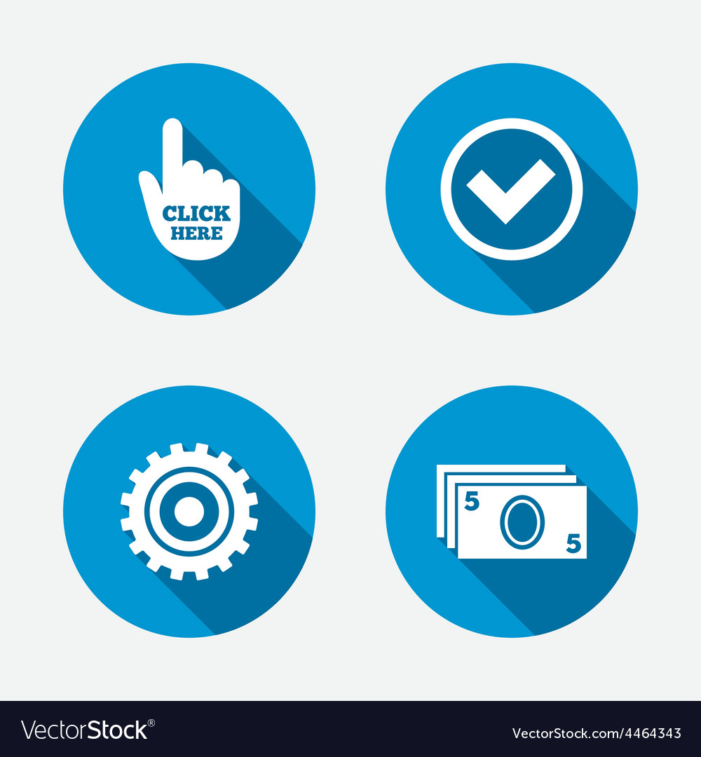Atm cash machine withdrawal icons vector | Price: 1 Credit (USD $1)