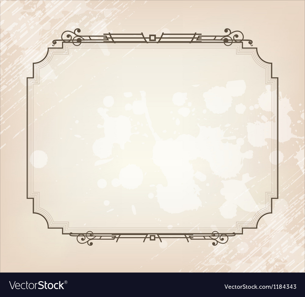 Beauty vintage border vector | Price: 1 Credit (USD $1)