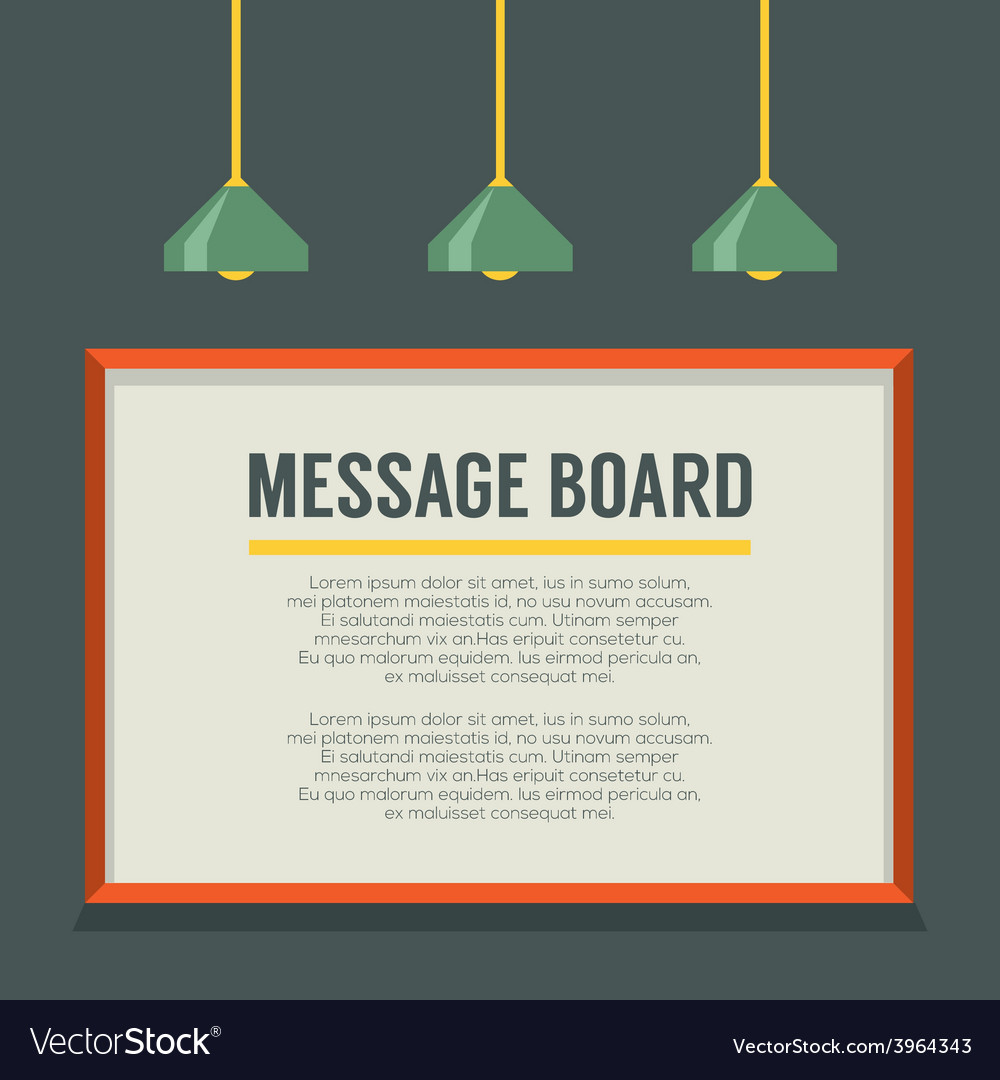 Blank message board on the wall vector | Price: 1 Credit (USD $1)