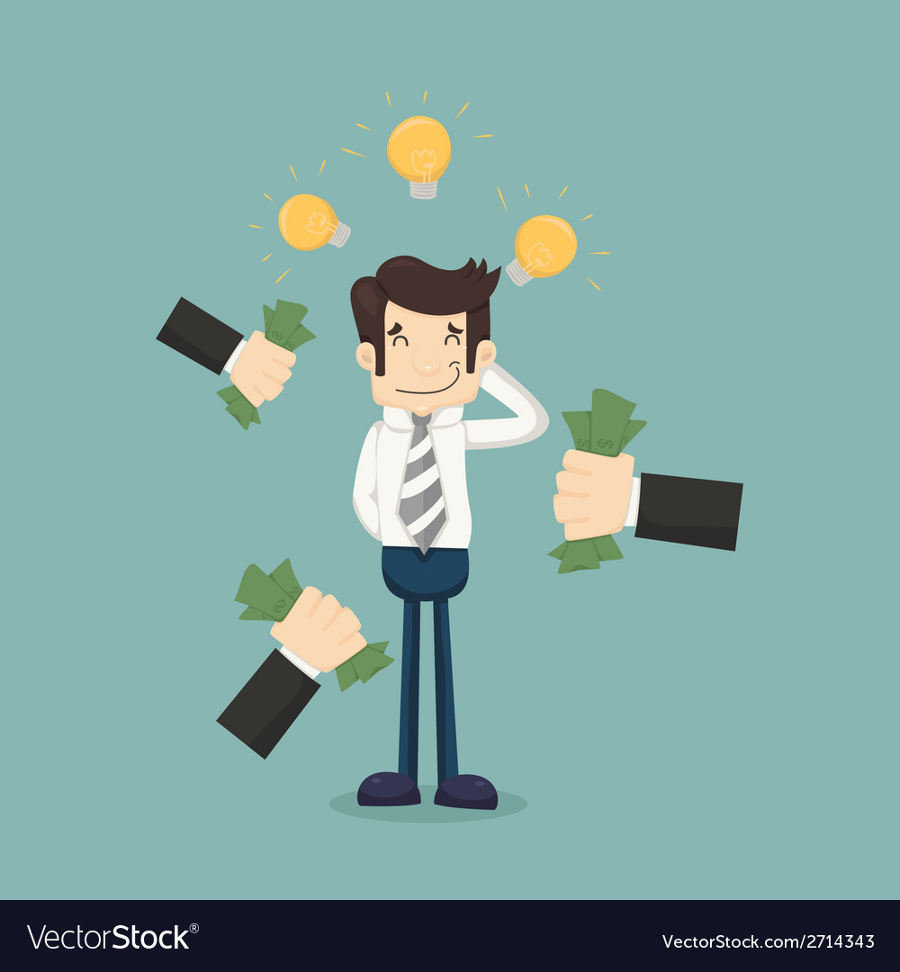 Businessman get idea vector | Price: 1 Credit (USD $1)