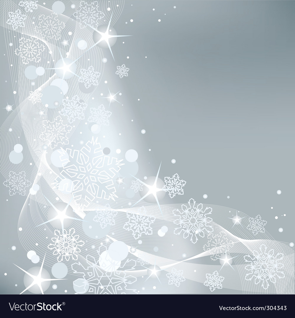 Christmas background with white snowflakes vector | Price: 1 Credit (USD $1)