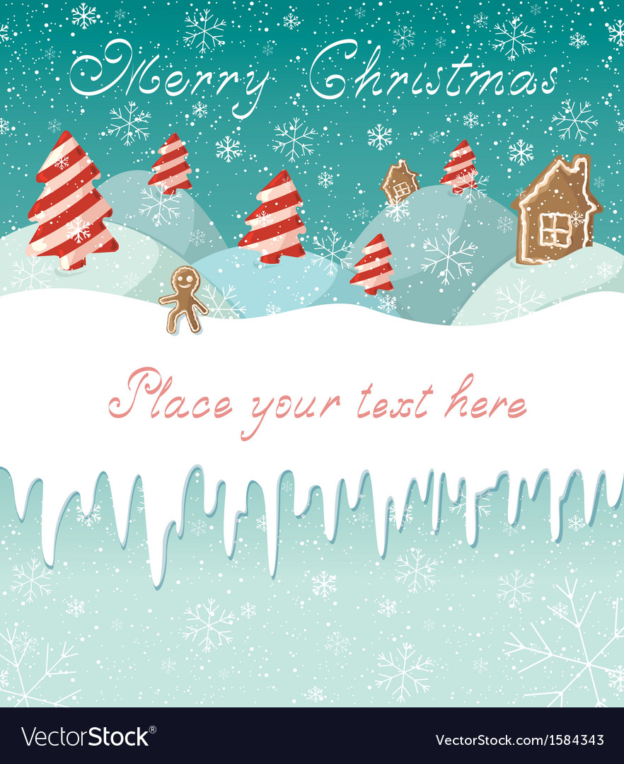 Christmas candy card vector | Price: 1 Credit (USD $1)