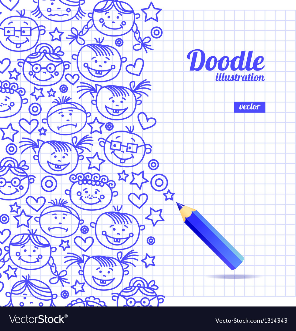 Doodle kid cartoon design vector | Price: 1 Credit (USD $1)