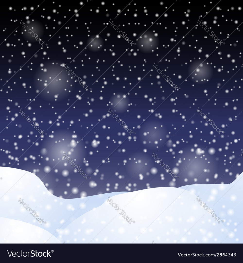 Falling snow against the dark night sky vector | Price: 1 Credit (USD $1)