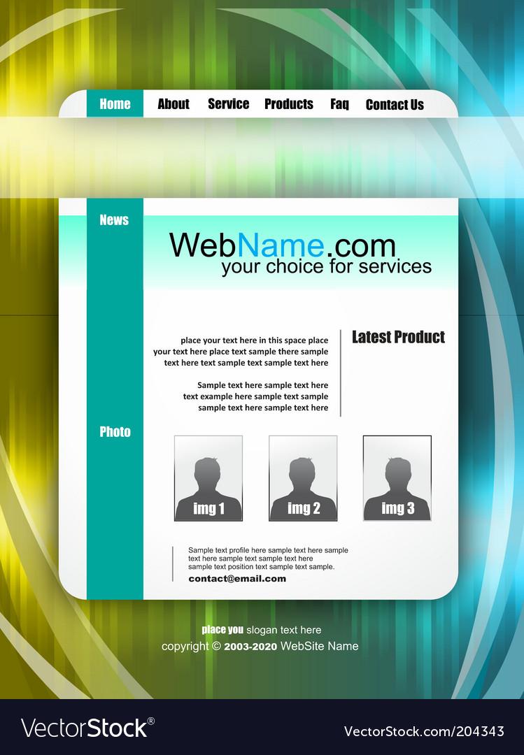 Futuristic website template vector | Price: 3 Credit (USD $3)