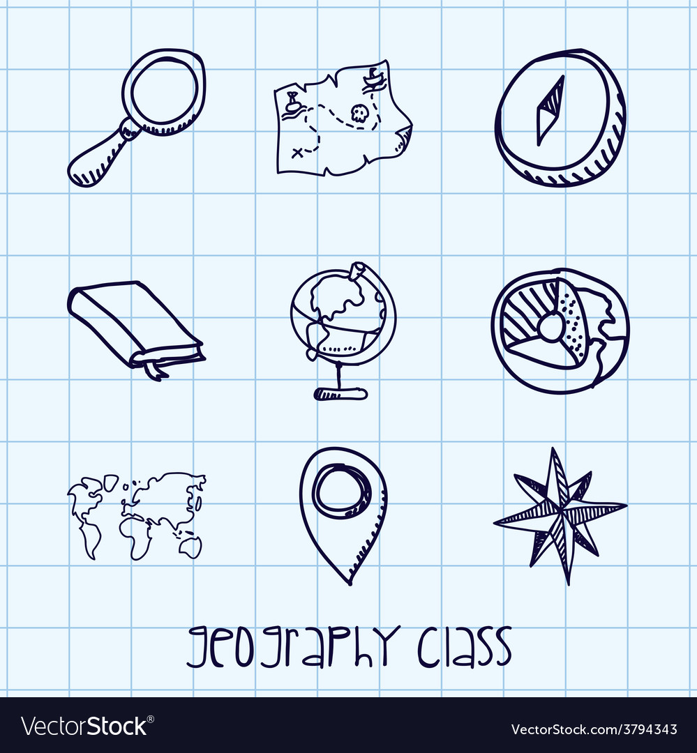 Geography class vector | Price: 1 Credit (USD $1)
