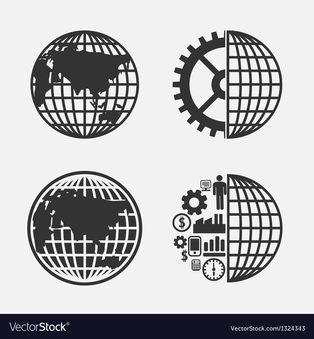 Icon creative globe earth vector | Price: 1 Credit (USD $1)