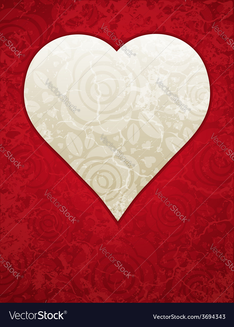 Lovely red heart with roses vector | Price: 1 Credit (USD $1)