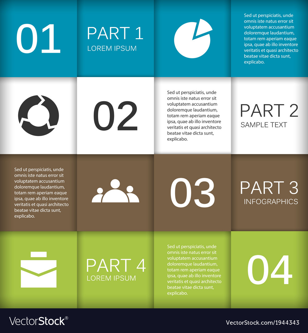 Modern info graphic for business project vector | Price: 1 Credit (USD $1)