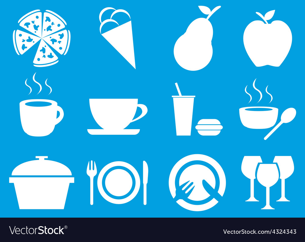 New food icons set vector | Price: 1 Credit (USD $1)