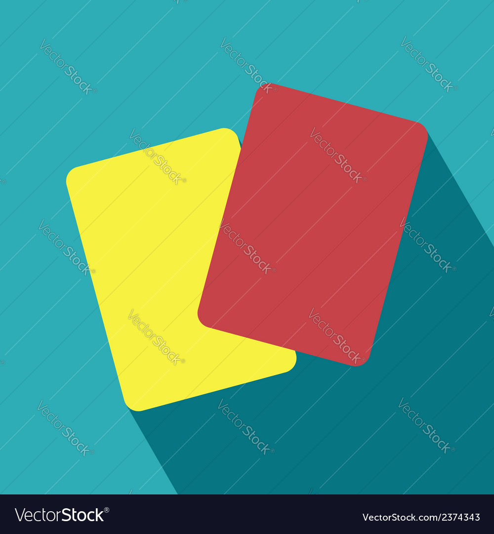 Red and yellow card icon vector | Price: 1 Credit (USD $1)