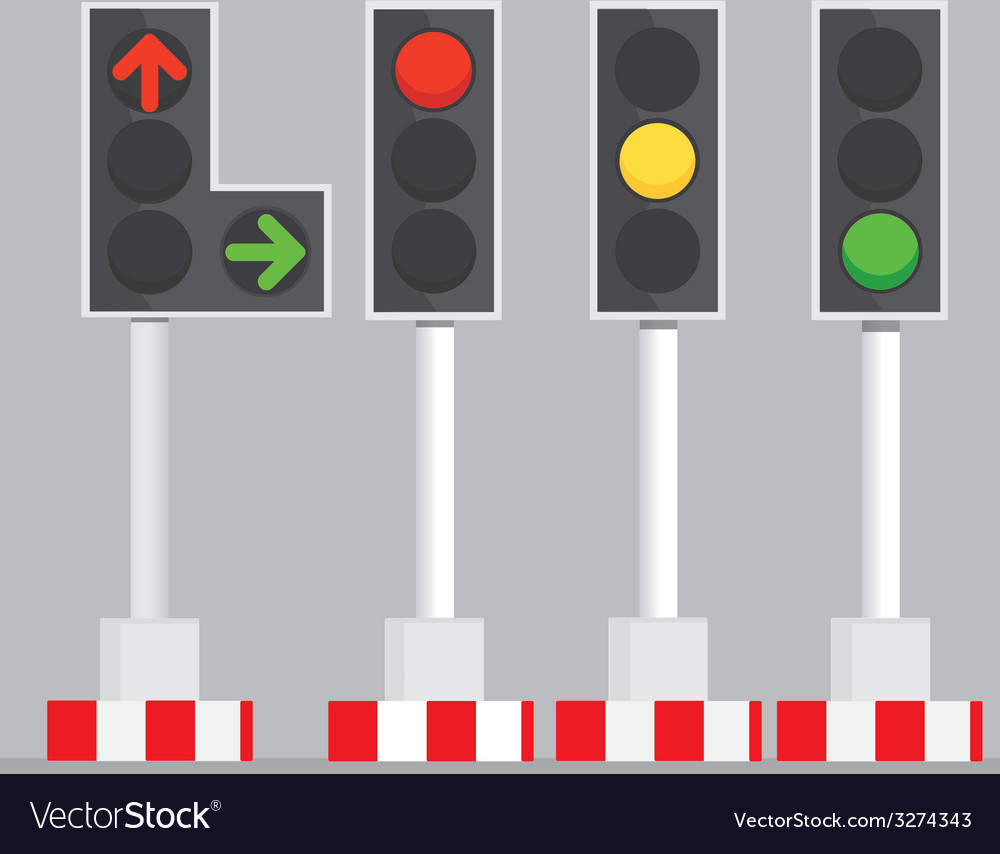 Traffic signal lights vector | Price: 1 Credit (USD $1)