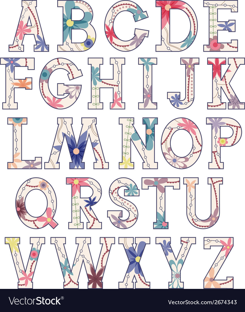Vintage alphabet vector   Price: 1 Credit (USD $1)