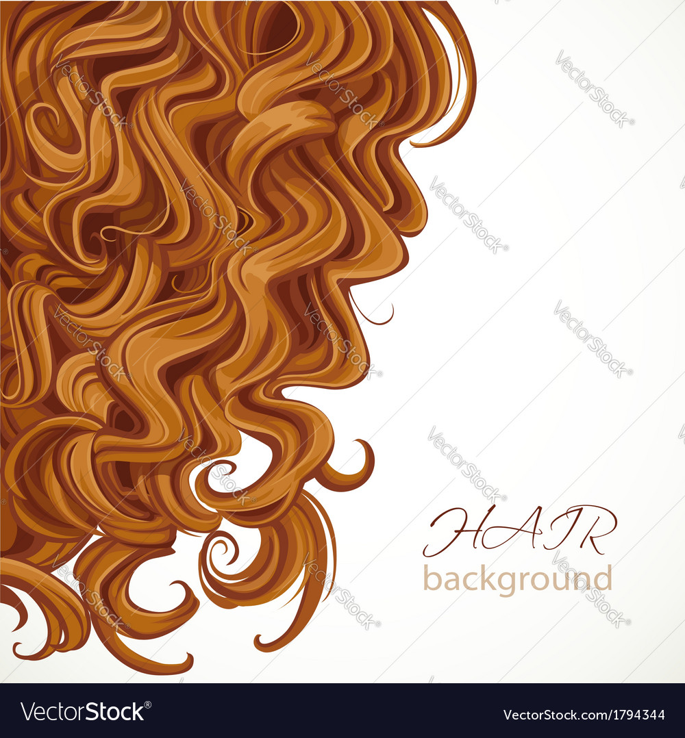 Background with curly brown hair vector | Price: 1 Credit (USD $1)