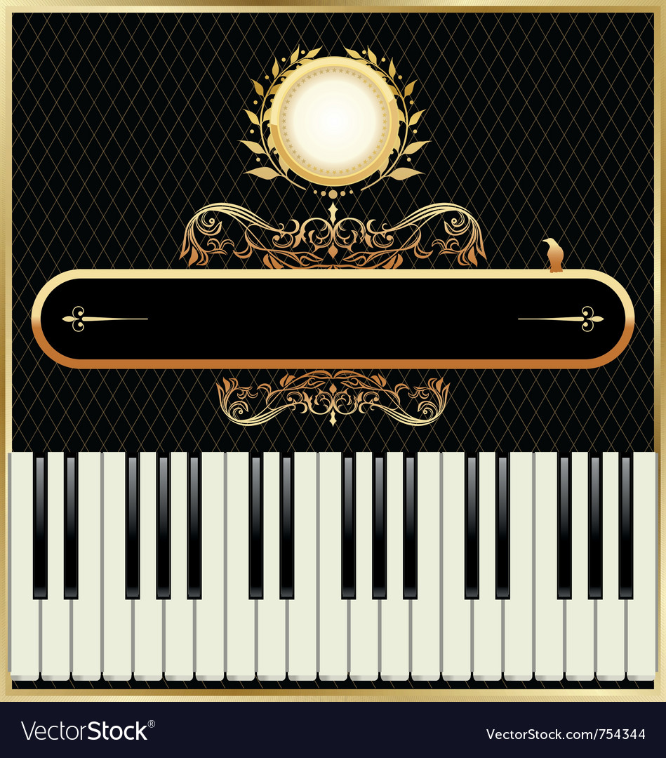 Elegant piano background vector | Price: 1 Credit (USD $1)