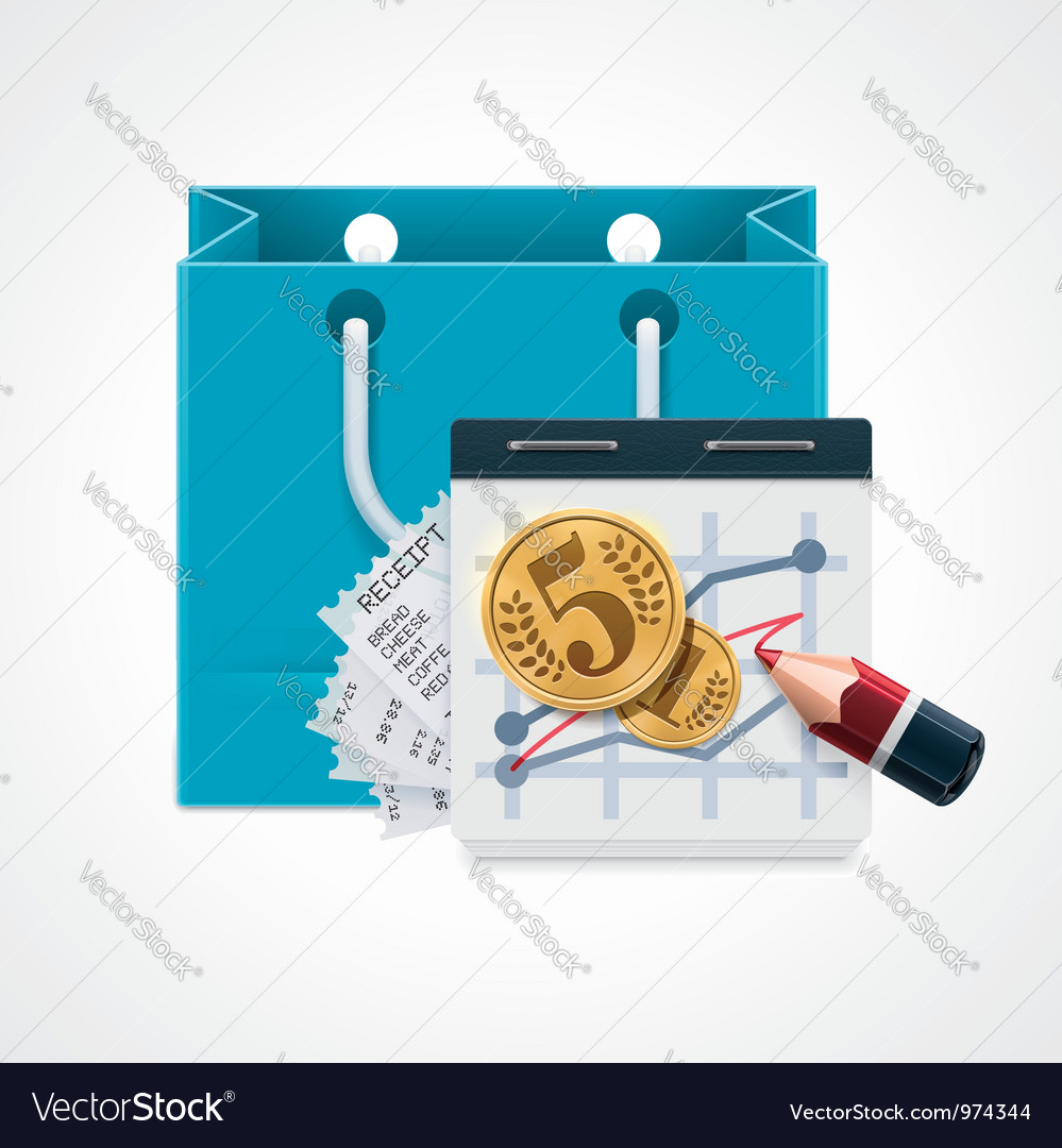 Expensive shopping icon vector | Price: 3 Credit (USD $3)