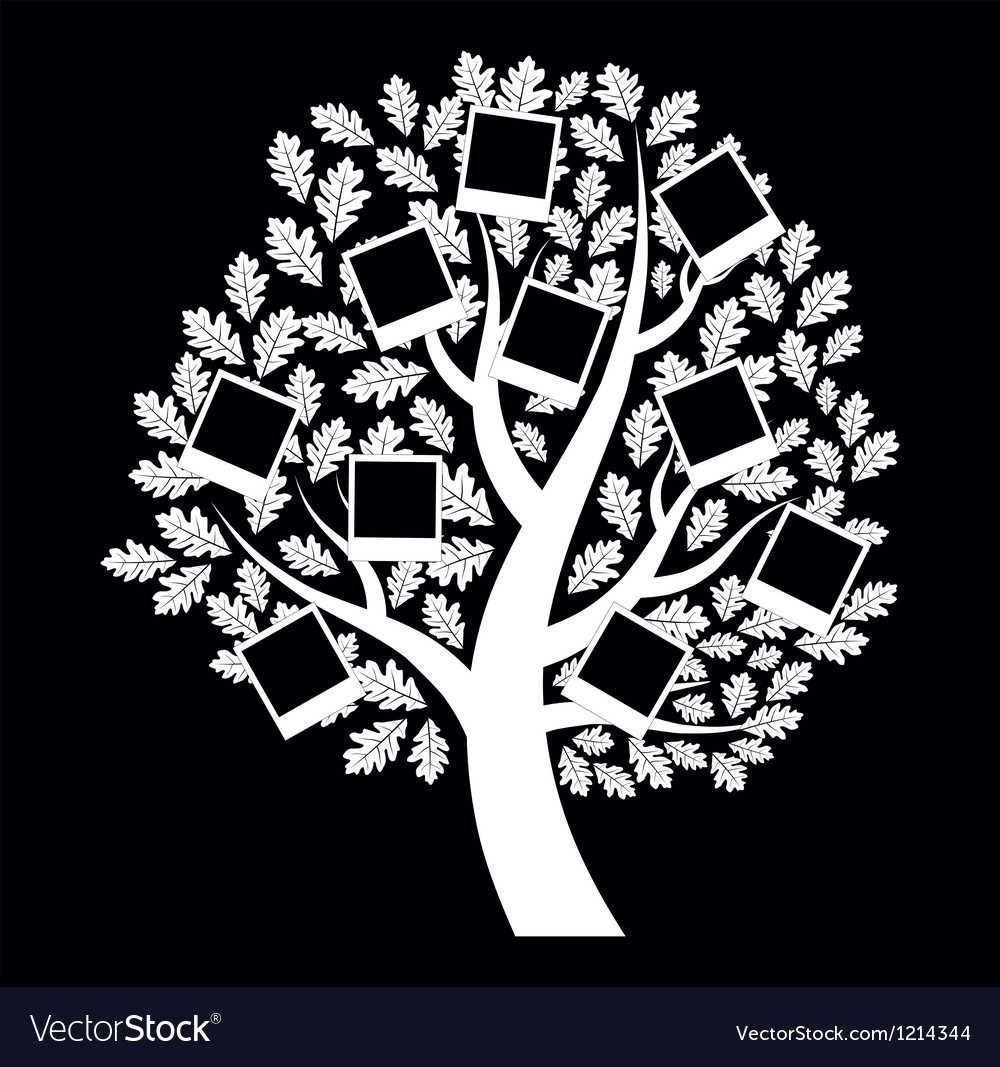 Family genealogical tree on black background vector | Price: 1 Credit (USD $1)